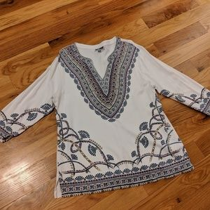 GREAT CONDITION. cute-patterned blouse